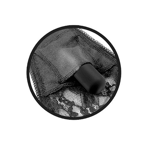 Tanga de encaje con balita vibradora