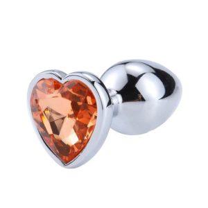 plug anal corazon metalico