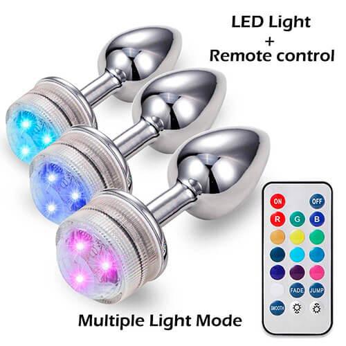 Plug Metalico con Luz y control